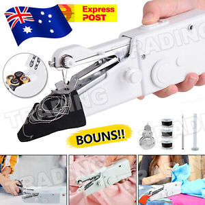 Mini Cordless Sewing Machine Portable Handheld Hand Held Stitch Home Clothes New