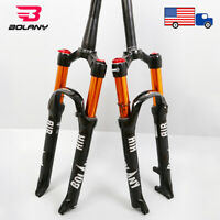 "BOLANY 26/27.5/29"" Suspension Fork 1-1/8"" Air Shock Manual Mountain Bike Forks"