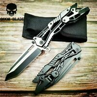 Folding Knife Steel Handle Survival Pocket Knives Camping Knife Hunting EDC Tool