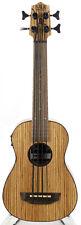 Kala U-Bass Zebrawood Acoustic-Electric Bass Guitar - Natural Satin