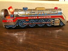 1960s Tin-Litho Battery-Op Silver Mountain Express w Mystery Action In Box Works