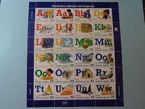 MH Marshall Islands * SC 668 * Alphabet & Language * Sht of 24 * MNH * Free Ship