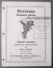Original Vintage Firestone 40HP Outboard Motor Owners Manual/Parts List (FM110)