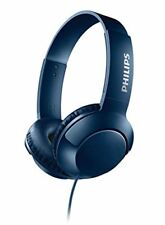 Philips Bass  Folding Headphones With Cable blue