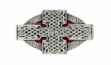 Celtic Cross Belt Buckle - Red