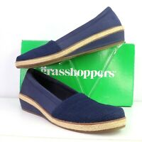 Grasshoppers Ortholite Navy Grace Comfort Shoes Womens 8.5 M Memory Foam Flats