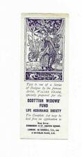 Vintage Walter Crane Scottish Widows Fund Bookmark 'September c. 1914