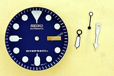 NEW SEIKO BLUE DIAL HANDS MINUTE TRACK SET SEIKO 7S26 0020 SKX007 WATCH NR#197
