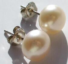 Ohrstecker Perle rose´ ; 925er Sterlingsilber