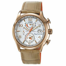 New Citizen Eco-Drive World Time AT Rose Tone Women's Strap Watch FC0003-18D