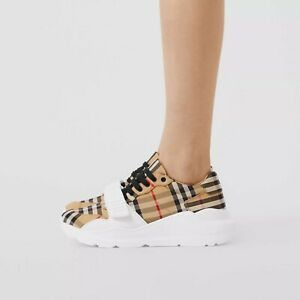 Burberry Vintage Check Cotton Sneakers (womens)
