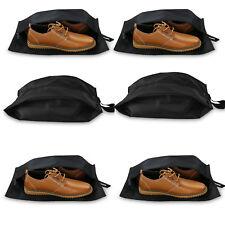 6pcs Travel Shoe Bags, Breathable Travel Shoe Organizer Storage Bags (Black)