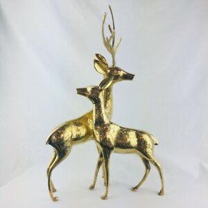 NEW Christmas XMAS Reindeer Rudolph Santa Sleigh GIFT Brass Handmade