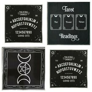 Tarot Alter Divination Cloth Black Magic Wall Decor Pagan Yule 28*28 Inch
