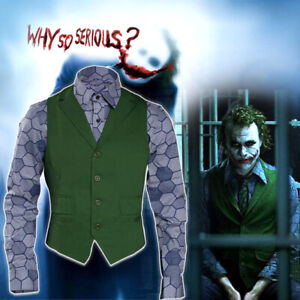 Batman The Dark Knight Joker Cosplay Costume Top Outfit Halloween Costume Suit