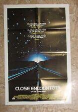 "1977 Close Encounters Of The Third Kind Original Movie Poster Vf 8.0 23x35"""