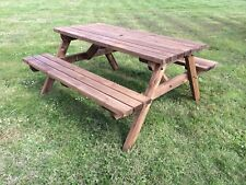 £10 OFF SUMMER SALE!! 5ft Wooden Picnic Table Commercial Quality 1.5m Brown