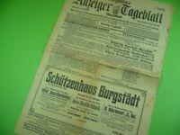 Burgstädter Anzeiger & Tageblatt Amtsblatt 1913, Alte Zeitung Burgstädt Sachsen