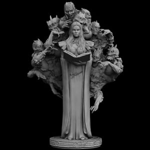 1/24 Ancient Fantasy Woman Officer Stand Unpainted Miniature GK Resin Figure