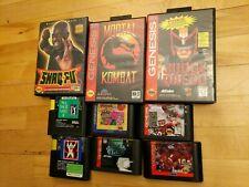 Lot of 10 Sega Genesis games with 3 cases
