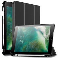"""Built-in Apple Pencil Holder Folio Tablet Case Cover For iPad 6th Gen 9.7"""" 2018"""