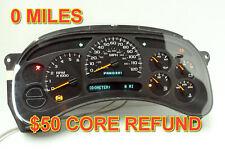 2003 2004 03 04 Chevrolet Silverado Reman Instrument Panel Cluster Speedometer