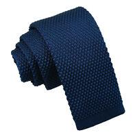 DQT Knit Knitted Plain Navy Blue Children Necktie Casual Formal Boys' Tie