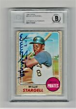 1968 TOPPS #86 WILLIE STARGELL SIGNED CARD BECKETT BAS BVG PITTSBURGH PIRATES