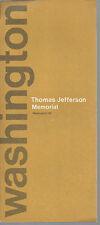 Thomas Jefferson Memorial Washington DC Tours Vintage 1973 Brochure