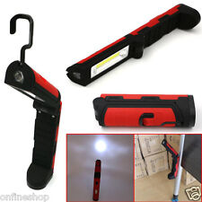 COB LED Pocket Pen Torch Magnetic Inspection Lamp Flashlight Light Foldable