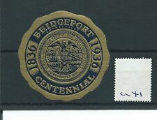 wbc. - CINDERELLA/POSTER - CL41- UNITED STATES - BRIDGEPORT CENTENNIAL - 1936