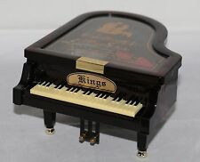 """KINGS Grand Piano Musical Jewelry Box 5 ¾"""" x 7 ½"""" x 3 ¾"""" Beethoven's """"For Elise"""""""