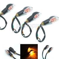 4x 12v Motorcycle LED Turn Signal light Indicator Blinker Amber For Harley Honda