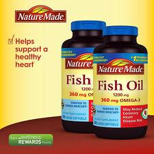 Nature Made Fish Oil 1200 mg, EPA, DHA & 360mg OMEGA-3, 400 Softgels
