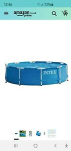 Intext 10ft Round Framed outdoor swimming pool inc filter and cover
