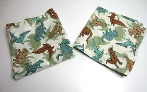 """Handmade Sewn Dinosaur Curtains 2 Rod Pocket Valance Set 35""""W 18""""L"""