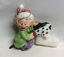 Grolier Collectibles Disney Dopey with toy Horse porcelain ornament