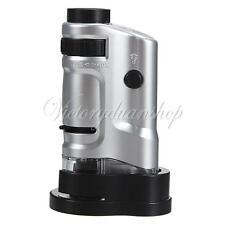 20-40x Fach Mini Mikroskop Taschenmikroskop Vergrößerung Magnifier + LED Licht