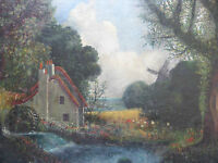 OIL THE OLD WATER MILL LISTED ARTIST WINSTON MCQUOID FREE SHIPPING TO ENGLAND