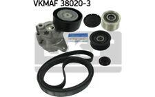 SKF Juego de correas trapeciales poli V VKMAF 38020-3