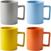 Bruntmor Modern Matte Ceramic Coffee Mugs Set of 4 Tea, Latte Mugs 16 OZ Pastel