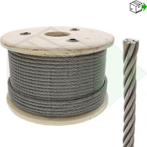 STAINLESS CLEAR BLACK COATED GALVANISED STEEL WIRE ROPE LIFTING METAL CABLE