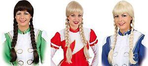 Perücke Garde Tanzperücke Mariechen Uniform Zopfperücke Dirndl Kleid Kostüm Hut