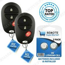 Replacement for Toyota 2004-2015 Sienna Tacoma Remote Car Keyless Key Fob Pair