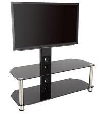 Vidrio Negro Soporte Tv Con Pared para 81.3-165cm TVS -114cm ancho estantes