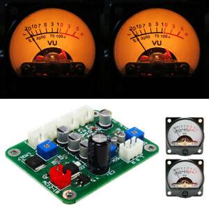10-12V VU Panel Meter 500UA Warm Back Light Recording +Cable w/Driver Module US