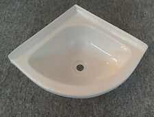Caravana Autocaravana Embarcación esquina de plástico blanco baño lavabo tocador Tazón de fuente SN9