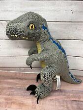 Jurassic World Park Blue Velociraptor Dinosaur Build A Bear Stuffed w/ Sound New