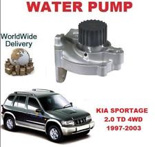 pour KIA SPORTAGE K00 2.0 TD 4WD 1997-2003 POMPE À EAU NEUVE qcp3169