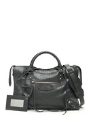 BALENCIAGA Classic City Motorcross Bag Dark Grey 115748